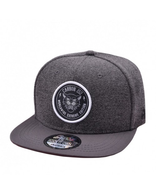 CARBON 212 EXTREME EDITION BIG CAT GREY SNAPBACK CAP