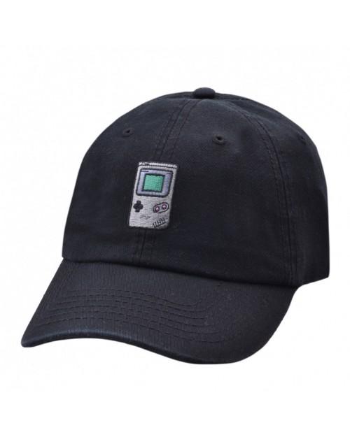 CARBON 212 - GAME BOY BLACK BASEBALL CAP 'DAD HAT'