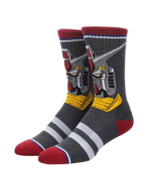 MOBILE SUIT GUNDAM ALL OVER PRINT 1 PAIR CREW SOCKS (CHARACTER COLLECTION)