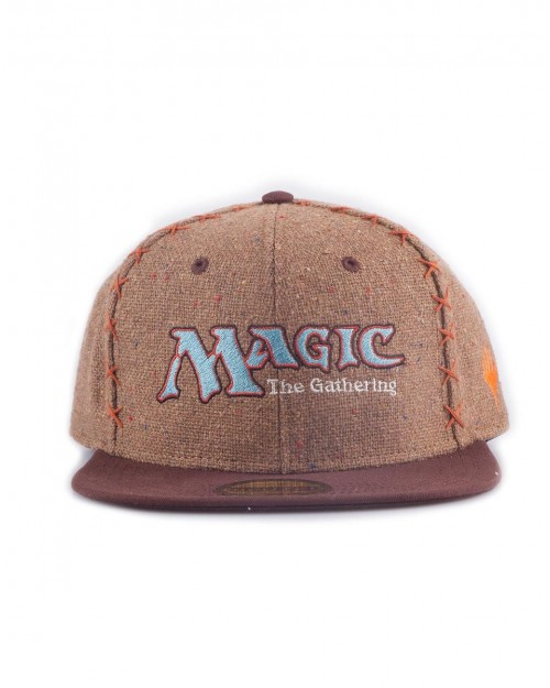 MAGIC THE GATHERING LOGO BROWN COSTUME STYELED SNAPBACK CAP