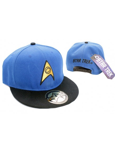 BLUE STAR TREK STARFLEET SCIENCE SNAPBACK CAP