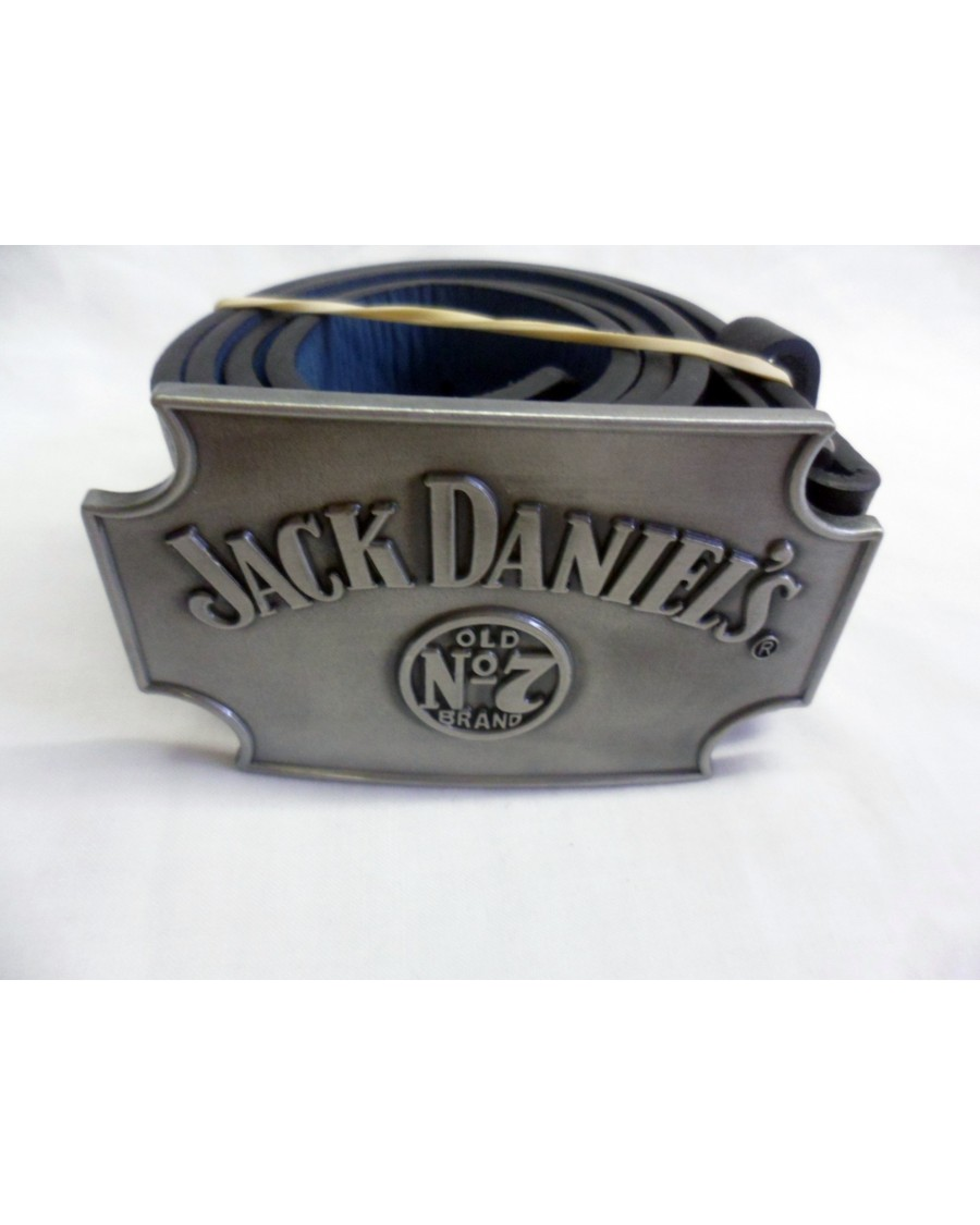 STUNNING JACK DANIELS 'OLD NO7 BRAND' GREY BUCKLE with BELT