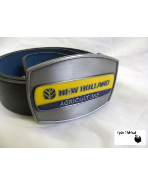 STUNNING NEW HOLLAND AGRICULTURE TRACTOR BUCKLE with BELT