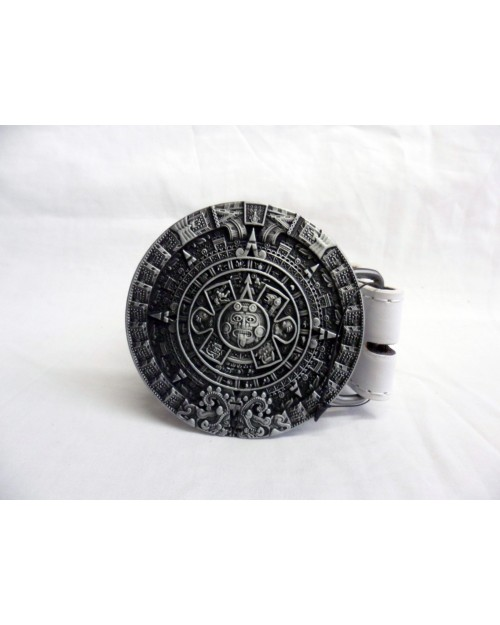 COOL AZTEC MAYAN CALENDAR SYMBOL BUCKLE with BELT
