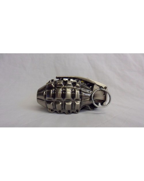 DETAILED HAND GRENADE BUCKLE with BELT