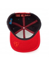 AWESOME DC COMICS SUPERMAN: MAN OF STEEL RED & BLACK SNAPBACK CAP