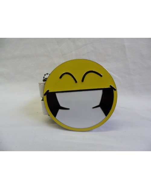 :D BIG CHEESY GRIN SMILEY FACE BUCKLE with BELT
