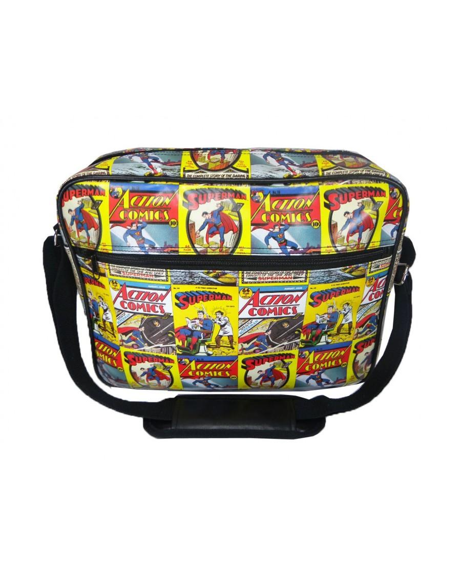 SUPERMAN TILED COMIC MESSENGER BAG