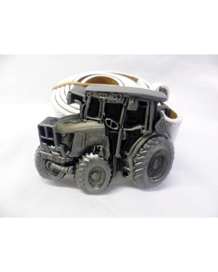 GREY & BLACK CLASSIC TRACTOR BUCKLE with BELT