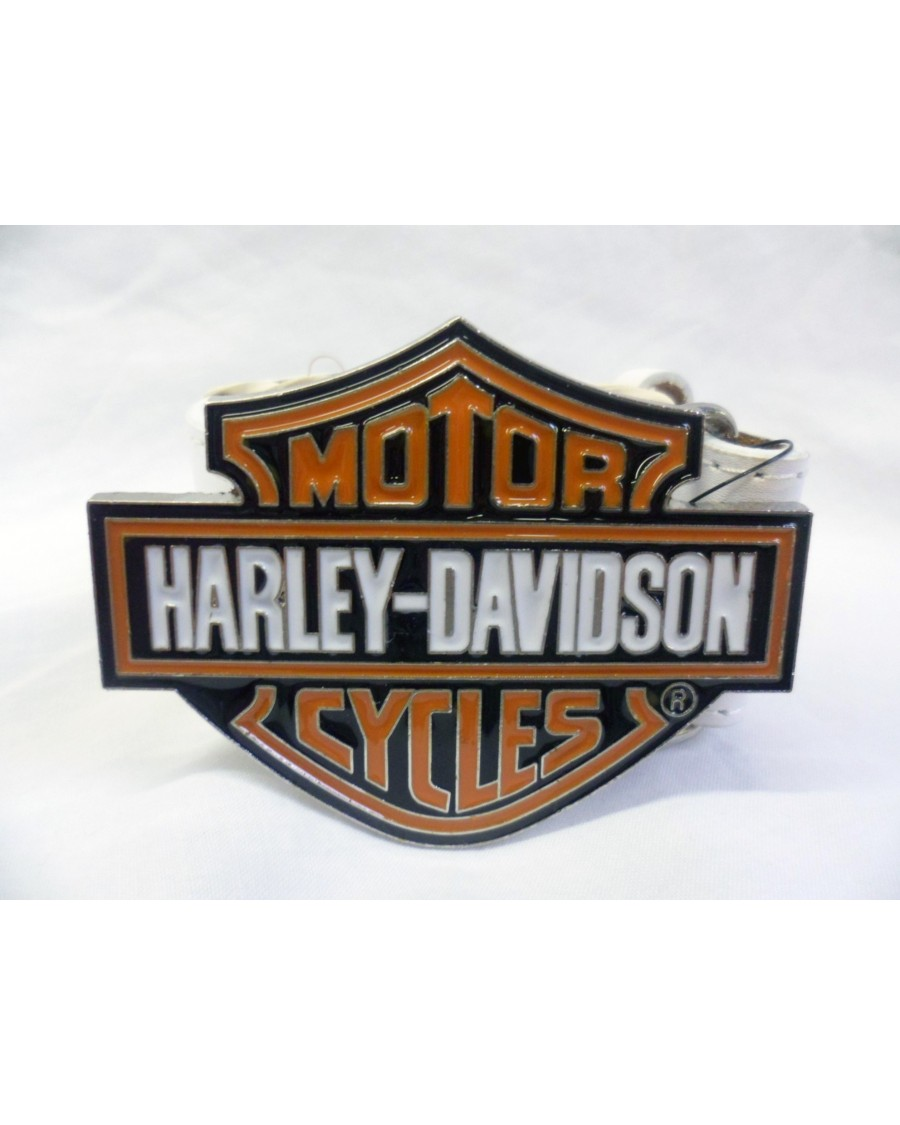 HARLEY DAVIDSON MOTORCYCLES ORANGE & BLACK BUCKLE with BELT
