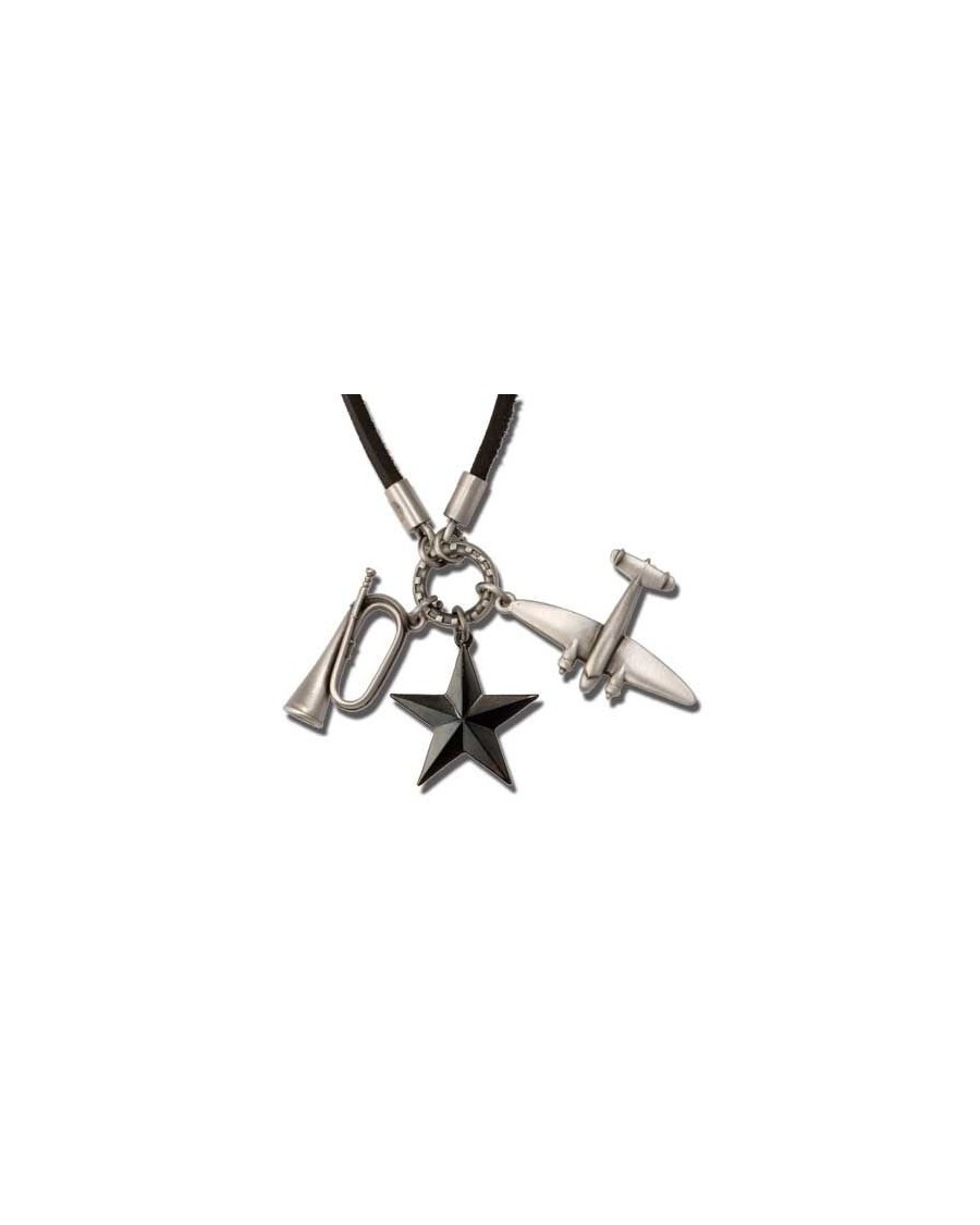 BICO I.D. EAGLE FREEDOM FIGHTER CLUSTER CHARM NECKLACE