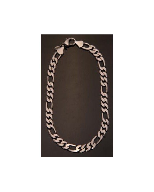 BICO: F32 SILVER PLATED BRASS NECKLACE WITH MATTE FINISH
