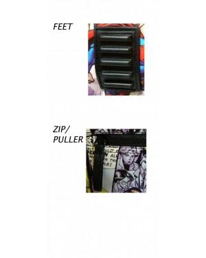 DC COMICS SUPERMAN COMIC TILED PRINT MESSENGER/ SHOULDER BAG