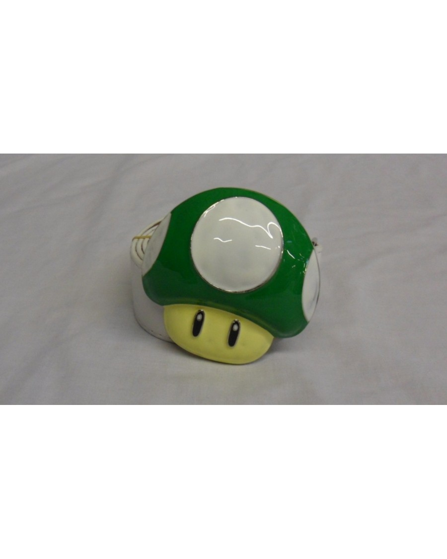 1UP Green mushroom from super mario bros BUCKLE with BELT