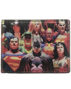 DC COMICS HEROES (SUPERMAN/ BATMAN) VS VILLAINS (THE JOKER/ CHEETAH/ BRAINIAC) BI-FOLD WALLET