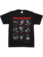 THE WALKING DEAD 'KNOW YOUR WALKERS' ZOMBIES BLACK T-SHIRT