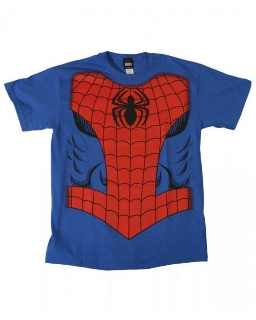 MARVEL'S THE AMAZING SPIDER-MAN RETRO COSTUME BLUE T-SHIRT