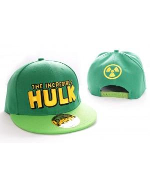 MARVEL'S THE INCREDIBLE HULK GREEN RADIATION SNAPBACK CAP