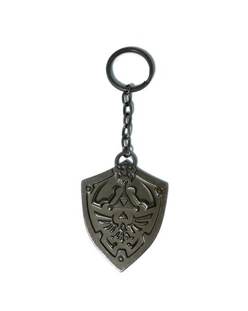 OFFICIAL THE LEGEND OF ZELDA METAL SKYWARD SWORD SHIELD KEYRING