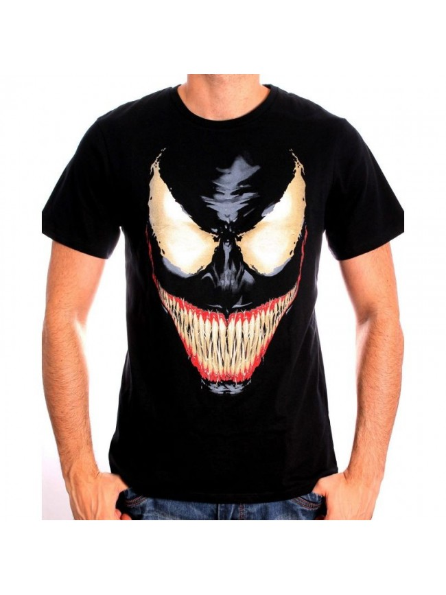 new images of latest fashion classic MARVEL'S THE AMAZING SPIDERMAN, VENOM FACE T-SHIRT - Spike Dabomb
