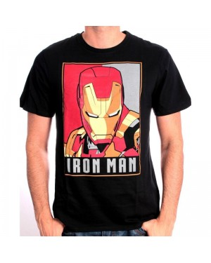 AWESOME MARVEL'S IRON MAN POP ART PRINT T-SHIRT