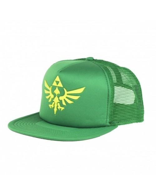 NINTENDO'S THE LEGEND OF ZELDA GREEN TRUCKER TRIFORCE SNAPBACK CAP