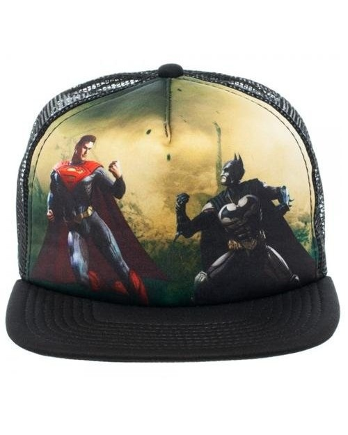 INJUSTICE GODS AMONG US BATMAN VS SUPERMAN TRUCKER SNAPBACK CAP