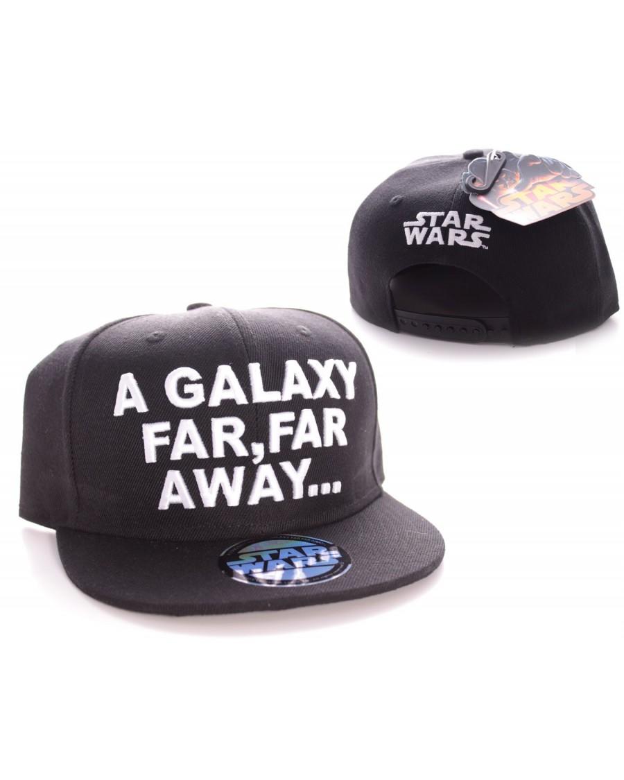 "STAR WARS ""IN A GALAXY FAR, FAR AWAY' BLACK SNAPBACK CAP"
