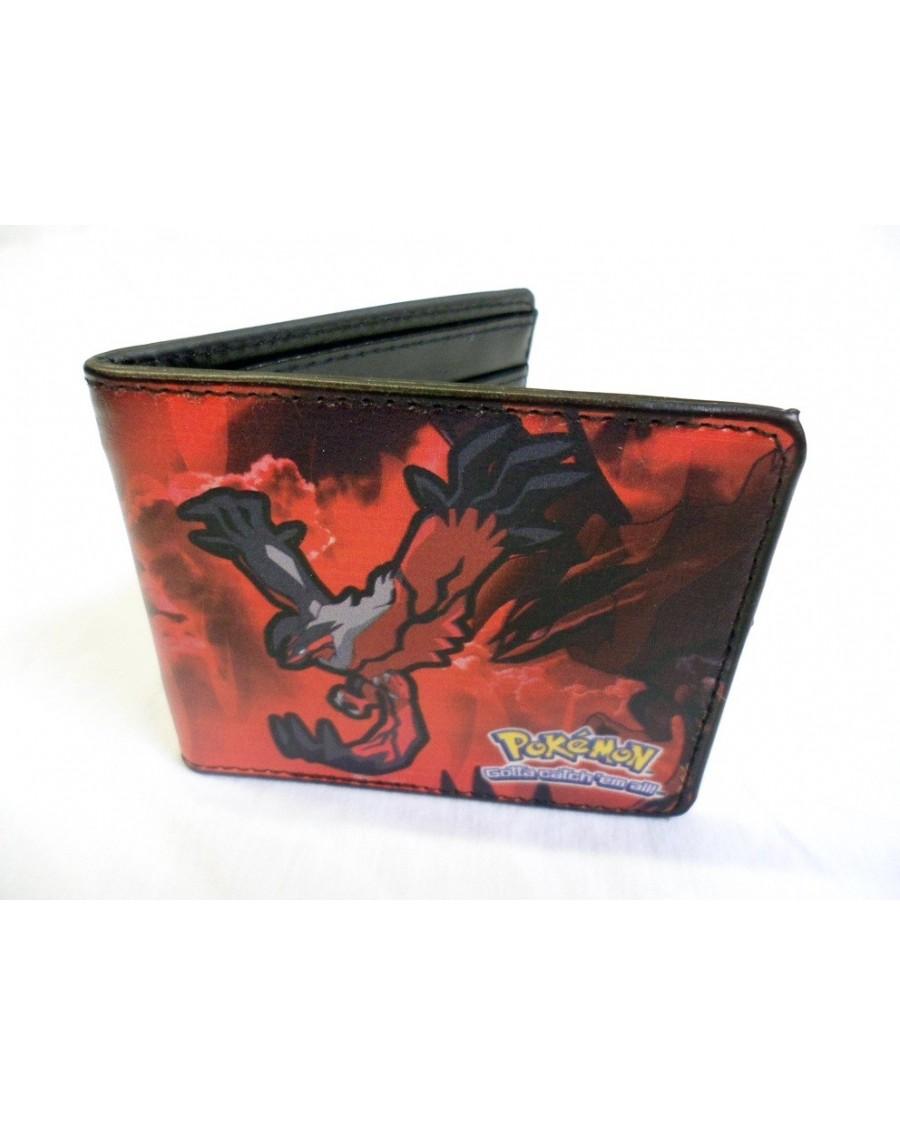 NINTENDO'S POKEMON YVELTAL AND XERNEAS RED/BLUE BI-FOLD WALLET
