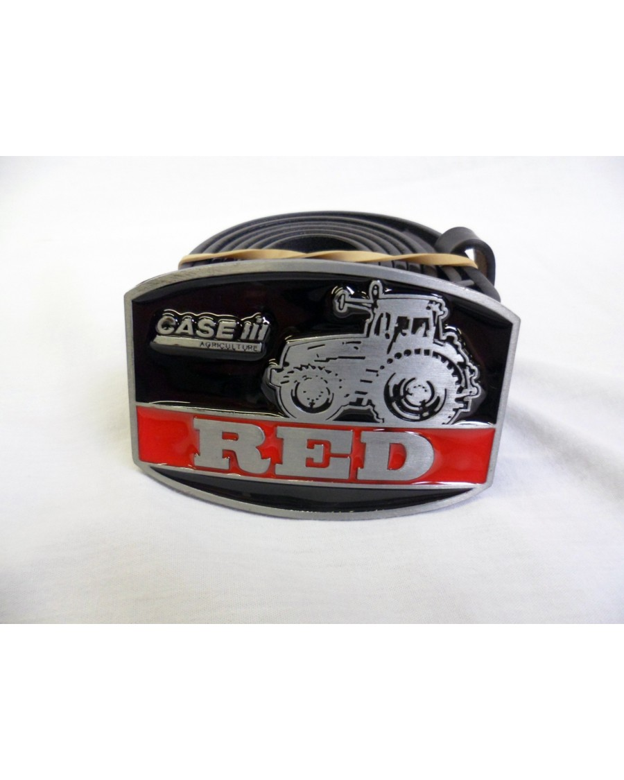 CASE 'RED' BUCKLE with BELT