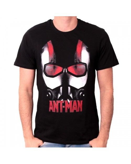 MARVEL COMICS ANT-MAN HELMET/ MASK BLACK T-SHIRT