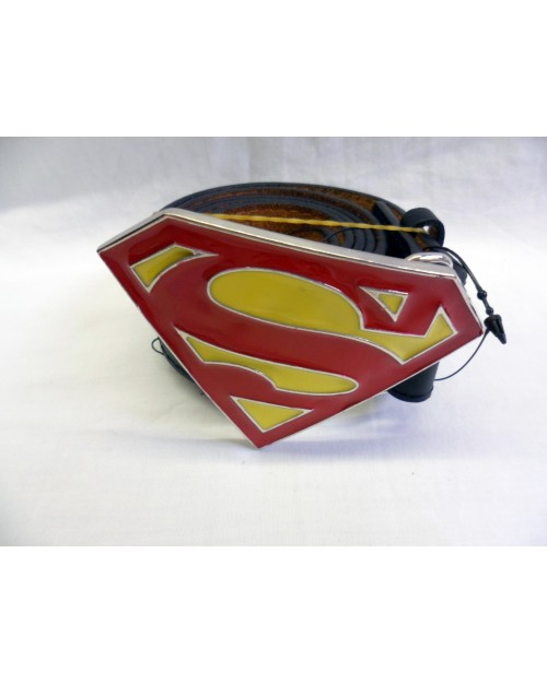 CLASSI RED AND YELLOW SUPERMAN BUCKLE with BELT