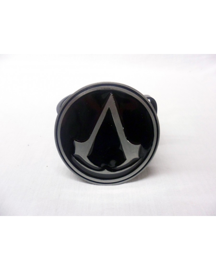 ASSASSIN'S CREED SYMBOL ROUND BLACK AND GREY BUCKLE with BELT