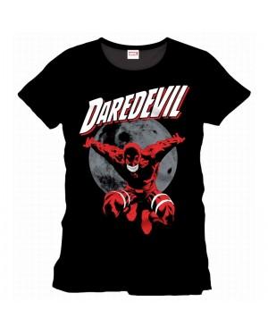 MARVEL'S DAREDEVIL LAUNCHING IN THE MOONLIGHT BLACK T-SHIRT