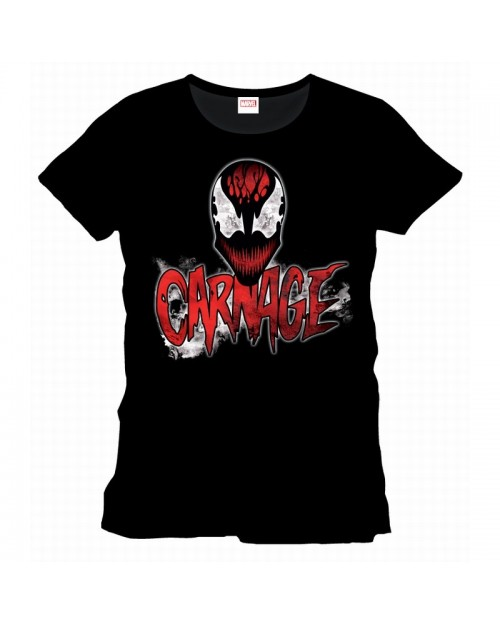 MARVEL'S THE AMAZING SPIDER-MAN CARNAGE FACE BLACK T-SHIRT