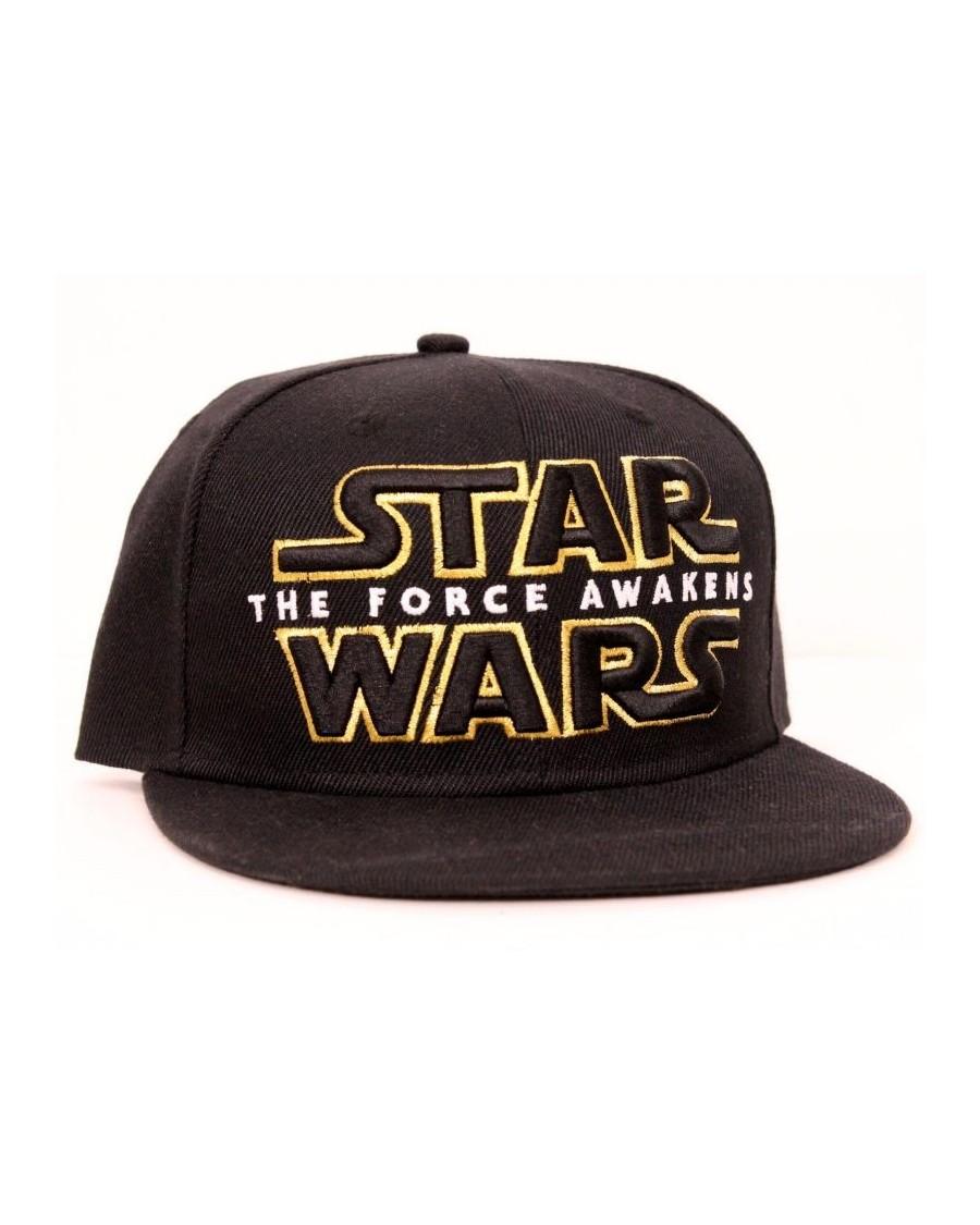 STAR WARS THE FORCE AWAKENS LOGO/ SYMBOL BLACK SNAPBACK CAP