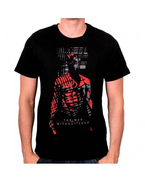 MARVEL'S DAREDEVIL 'THE MAN WITHOUT FEAR' SHADOW BLACK T-SHIRT