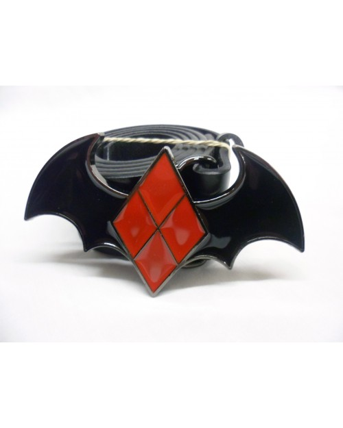 DC COMICS BATMAN: HARLEY QUINN DIAMOND BAT BUCKLE.