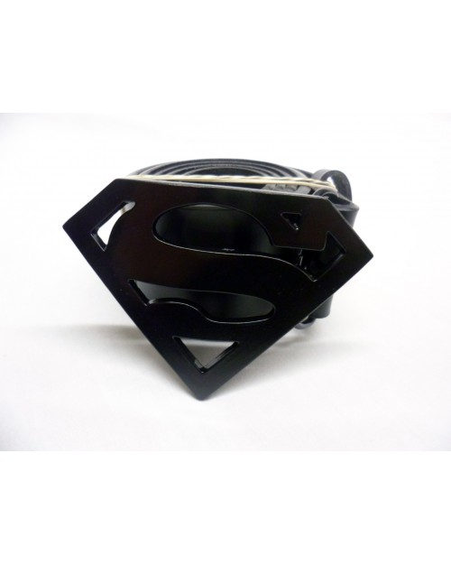 DC COMICS SUPERMAN SYMBOL BLACK BUCKLE.