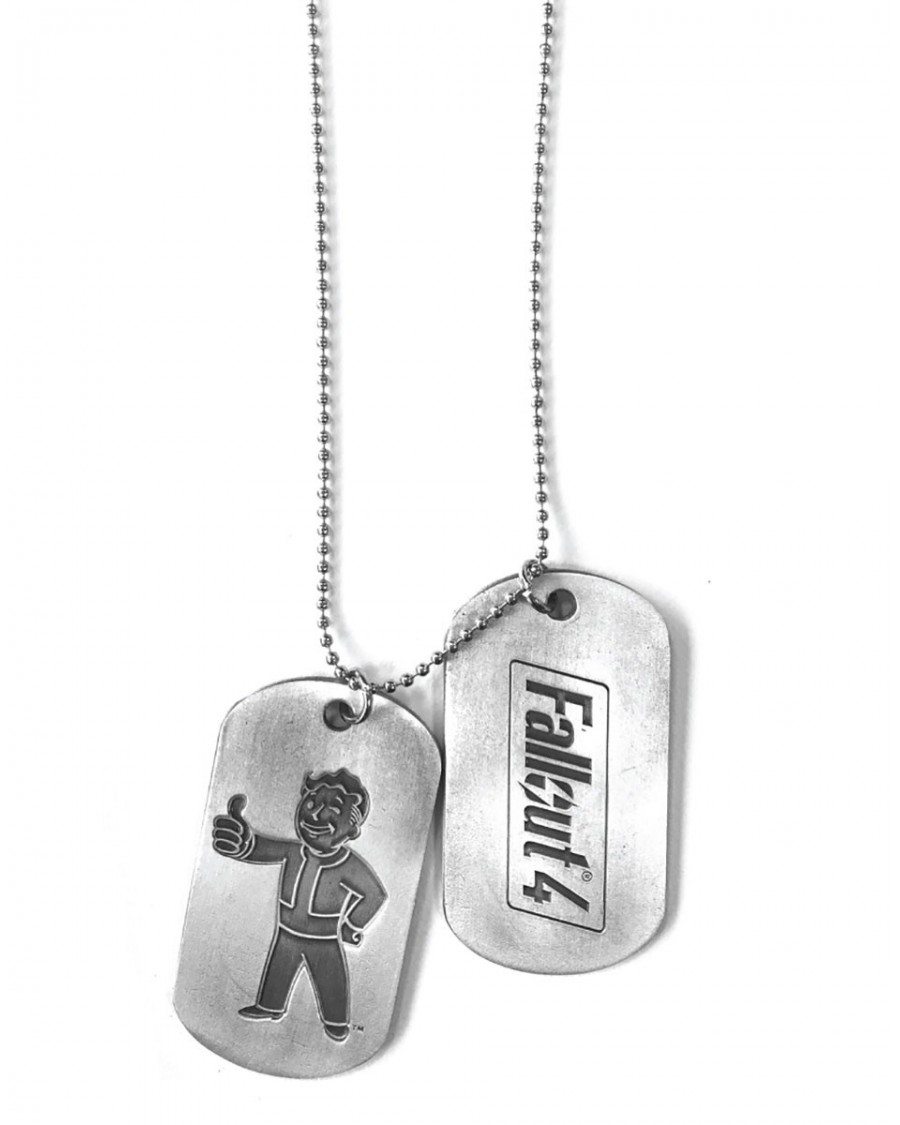 OFFICIAL FALLOUT 4 VAULT BOY METAL DOG TAGS (NECKLACE)
