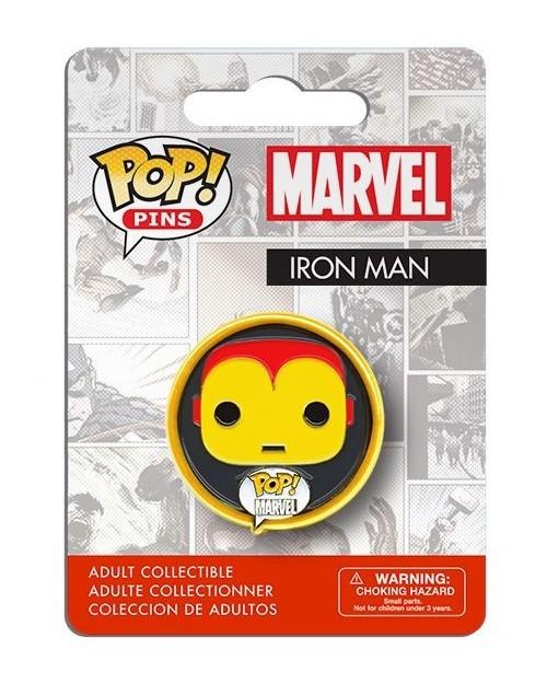 OFFICIAL MARVEL COMICS IRON MAN POP! PIN BADGE