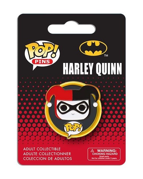 OFFICIAL DC COMICS HARLEY QUINN POP! PIN BADGE