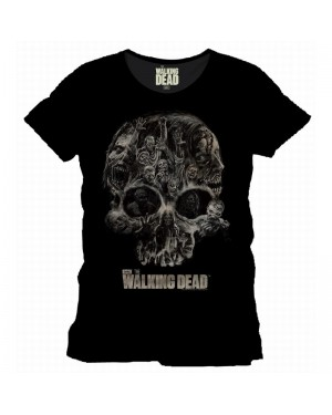 OFFICIAL THE WALKING DEAD SKULL BLACK T-SHIRT