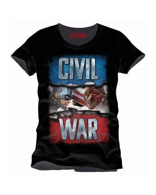 MARVEL'S CAPTAIN AMERICA: CIVIL WAR BLACK T-SHIRT