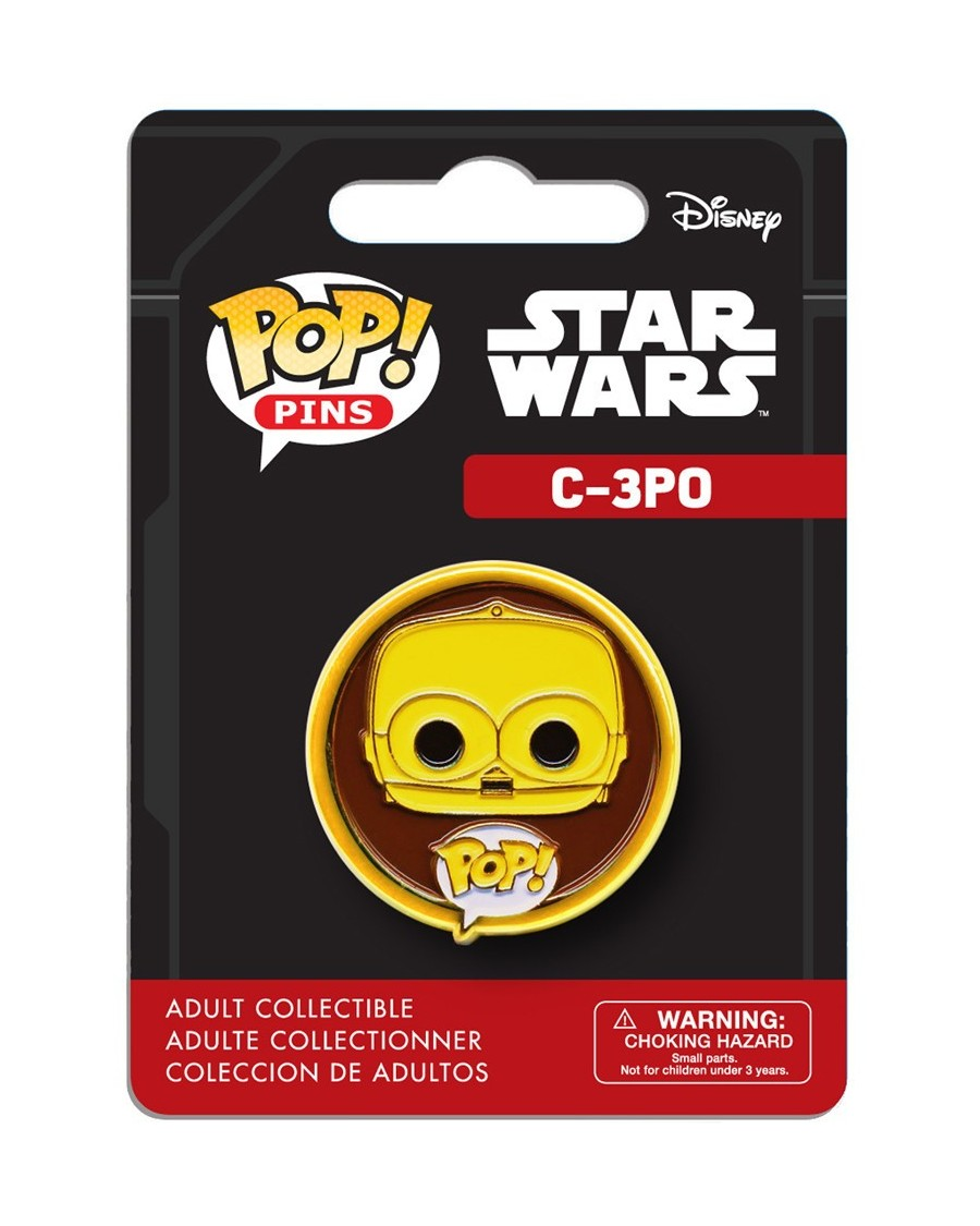 OFFICIAL STAR WARS C-3PO POP! PIN BADGE