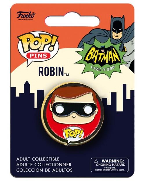 OFFICIAL DC COMICS BATMAN (1966 TV SERIES) ROBIN POP! PIN BADGE