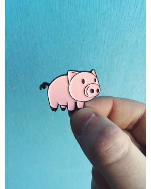 CARTOON PIG HARD ENAMEL PIN BADGE