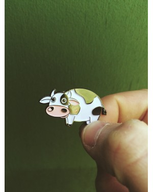 CARTOON COW HARD ENAMEL PIN BADGE