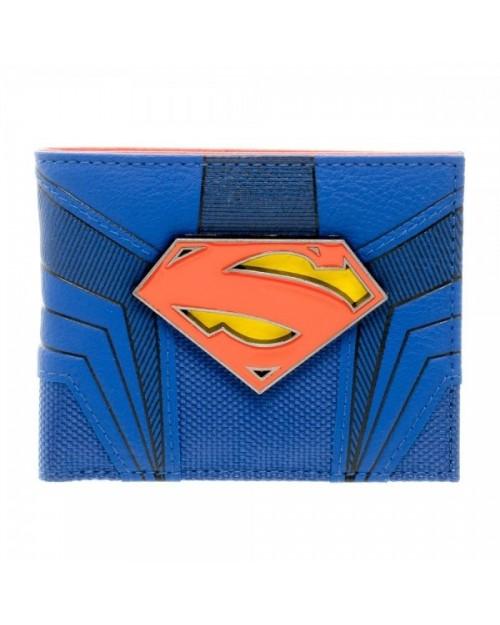 OFFICIAL DC COMICS SUPERMAN (MAN OF STEEL) SUIT UP COSTUME BLACK WALLET