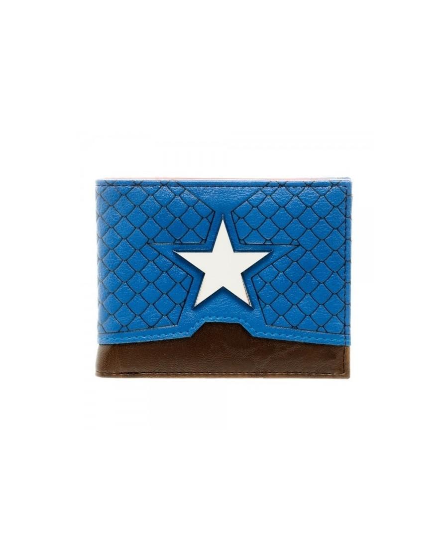 OFFICIAL MARVEL COMICS CAPTAIN AMERICA STAR SUIT UP COSTUME BLUE WALLET